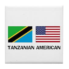 Tanzanian American Tile Coaster