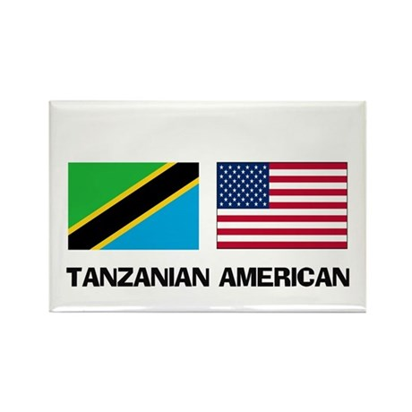 Tanzanian American Rectangle Magnet (10 pack)