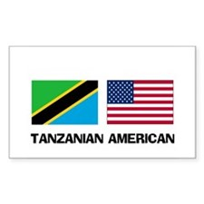Tanzanian American Rectangle Decal