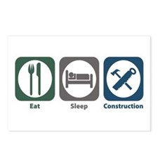 Eat Sleep Construction Postcards (Package of 8)
