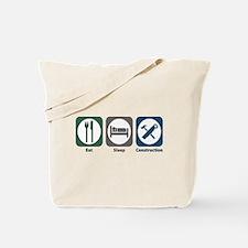 Eat Sleep Construction Tote Bag