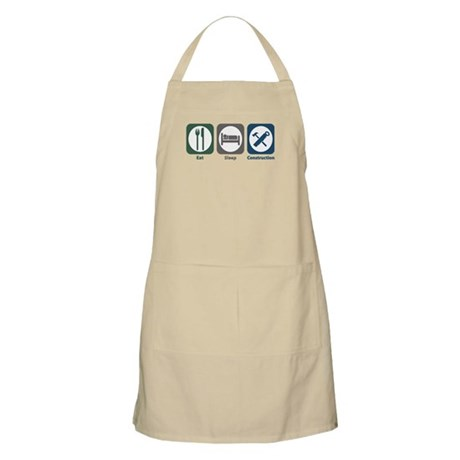 Eat Sleep Construction BBQ Apron