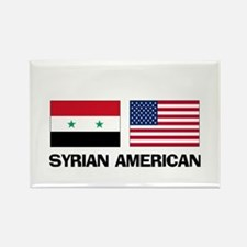 Syrian American Rectangle Magnet