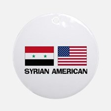 Syrian American Ornament (Round)