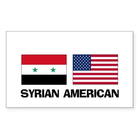 Syrian American Rectangle Sticker