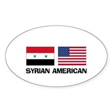 Syrian American Oval Decal