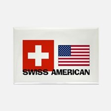 Swiss American Rectangle Magnet