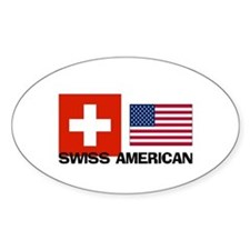 Swiss American Oval Decal