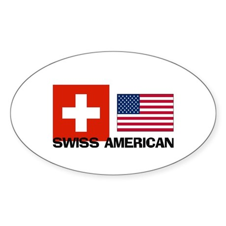 Swiss American Oval Sticker