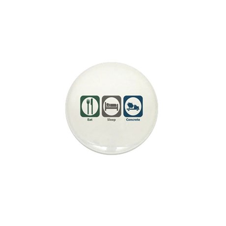 Eat Sleep Concrete Mini Button (100 pack)