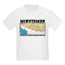 Minuteman - Protecting our bo Kids T-Shirt