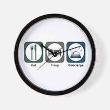 Eat Sleep Concierge Wall Clock