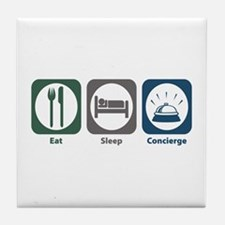 Eat Sleep Concierge Tile Coaster