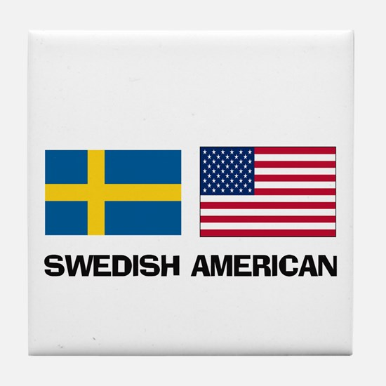 Swedish American Tile Coaster