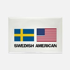 Swedish American Rectangle Magnet