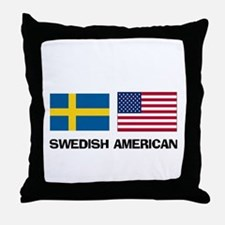 Swedish American Throw Pillow