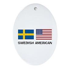 Swedish American Oval Ornament
