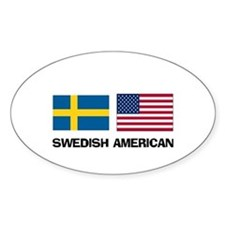 Swedish American Oval Stickers