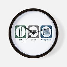 Eat Sleep Computers Wall Clock