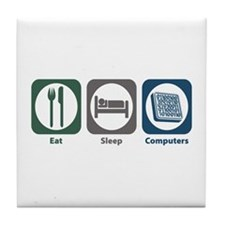 Eat Sleep Computers Tile Coaster