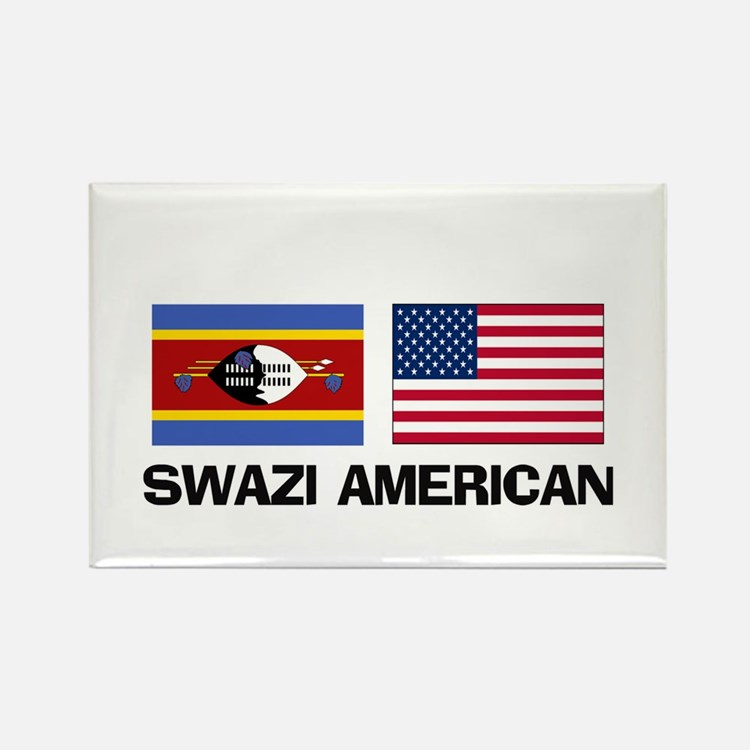 Swazi American Rectangle Magnet
