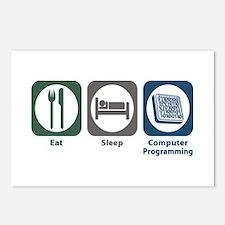 Eat Sleep Computer Programming Postcards (Package