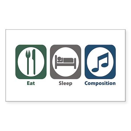 Eat Sleep Composition Rectangle Sticker