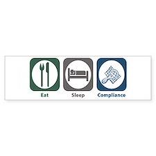 Eat Sleep Compliance Bumper Sticker (10 pk)
