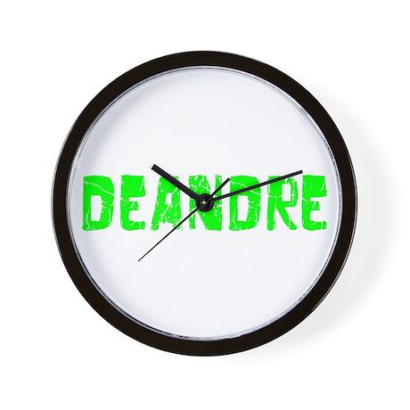 Deandre Faded (Green) Wall Clock