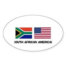 South African American Oval Decal