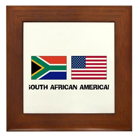 South African American Framed Tile