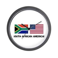 South African American Wall Clock