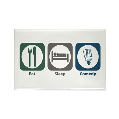 Eat Sleep Comedy Rectangle Magnet (10 pack)
