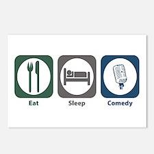 Eat Sleep Comedy Postcards (Package of 8)