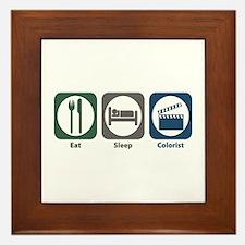 Eat Sleep Colorist Framed Tile