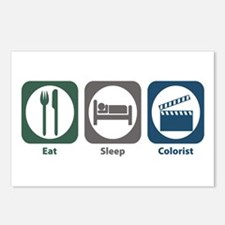 Eat Sleep Colorist Postcards (Package of 8)