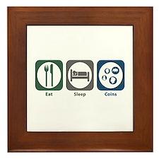Eat Sleep Coins Framed Tile