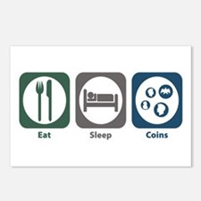 Eat Sleep Coins Postcards (Package of 8)