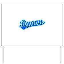 Retro Ryann (Blue) Yard Sign