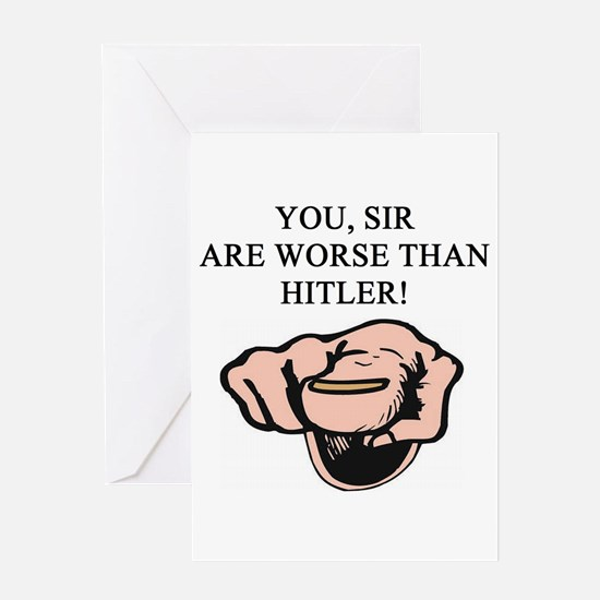hitler gifts t-shirts Greeting Card