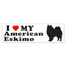 AMERICAN ESKIMO Bumper Bumper Sticker