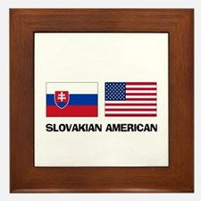 Slovakian American Framed Tile