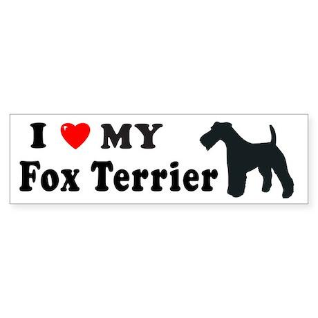 FOX TERRIER Bumper Sticker