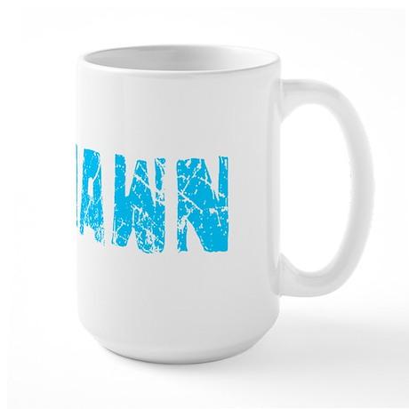 Deshawn Faded (Blue) Large Mug