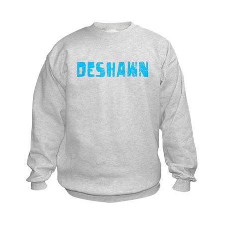 Deshawn Faded (Blue) Kids Sweatshirt