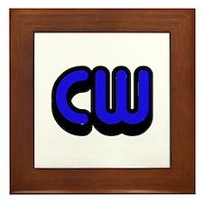 CW (Morse Code) Framed Tile