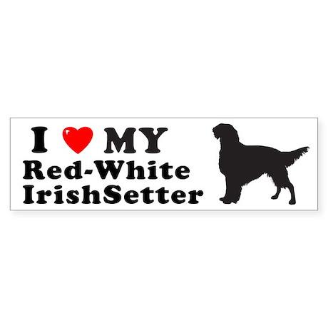 RED-WHITE IRISHSETTER Bumper Sticker