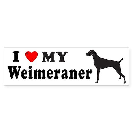 WEIMERANER Bumper Sticker