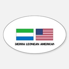 Sierra Leonean American Oval Decal