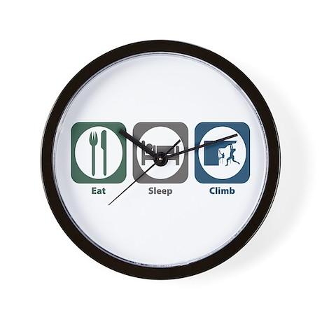 Eat Sleep Climb Wall Clock